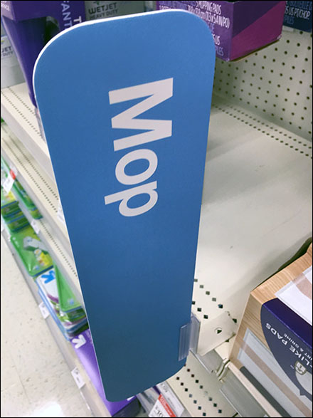 Aisle Category Definition Sign-Mounts
