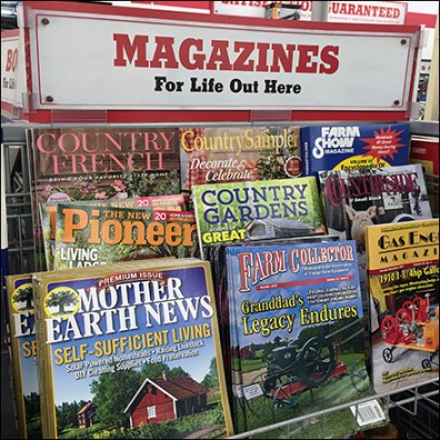 Rural Living Lifestyle Magazine Rack