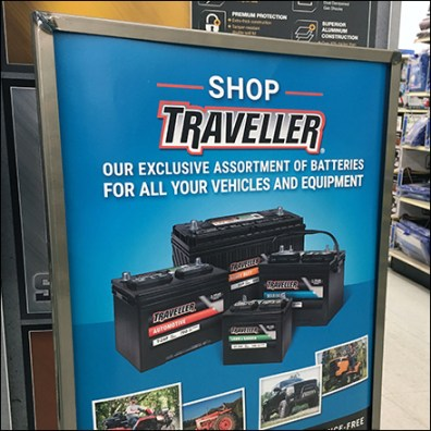Traveller Assorted Equipment Batteries Sign