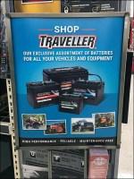 Traveller Assorted Equipment Batteries Sign