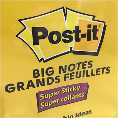 Twin-Hook Big-Note Post-It Merchandising