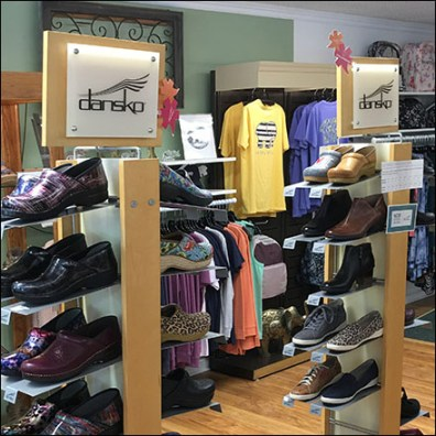 Dansko Branded Shoe Tower Display