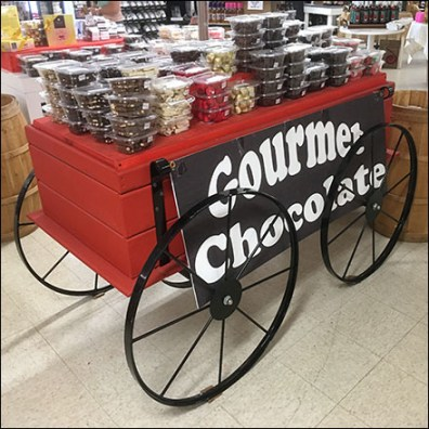 Gourmet Chocolate Chuck-Wagon Display