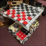 American Candle Jumbo Checkerboard Demo Display Square