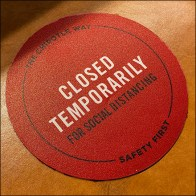 CoronaVirus Restaurant Stool Closed Notice