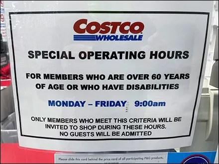 CoronaVirus Special Operating Hours Invitation