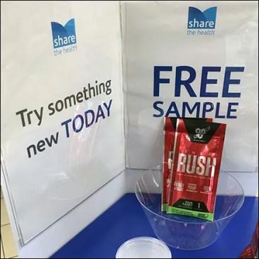 Free Samples Sampling-Table Try-Me