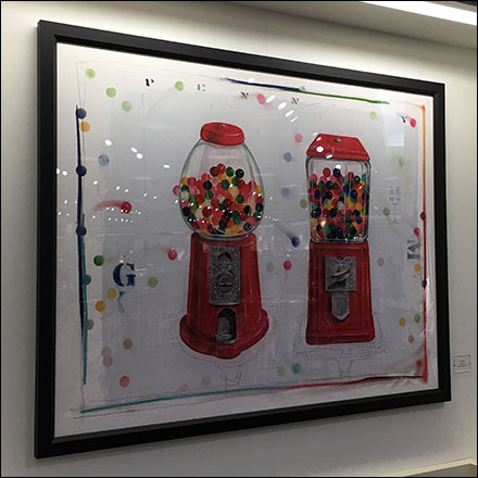 Kids' Bubblegum Machine In-Store Art