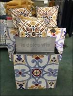 La Dolce Vita Tapestry Pillow Display