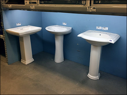 Ground-Level Pallet-Rack Sink Display