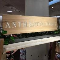 Anthropologie Carved Wood Branding