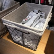 Nordstrom Fabric-Lined Chicken-Wire Bulk-Bins