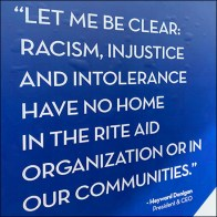 Racism Banned Entry Sign At Rite Aid