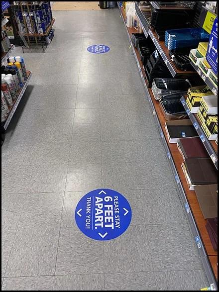 CoronaVirus Browsing Social-Distance Floor Graphics