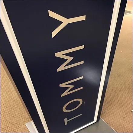 Tommy Hilfiger Vertical Branding Stands Tall