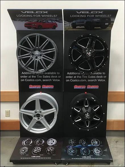 Custom Wheel Display Hook Display
