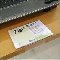 Top-Facing Edge-Grip Retail Talker