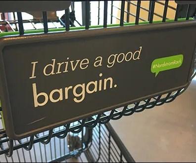 Nordstrom-Rack Branded Shopping Cart