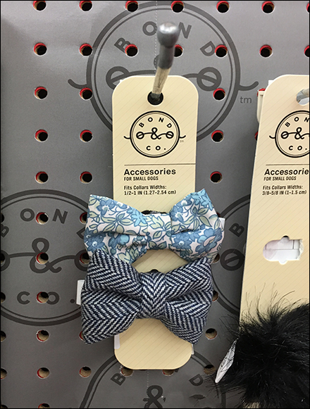 Pet-Bow-Tie Straight-Entry Display Hook