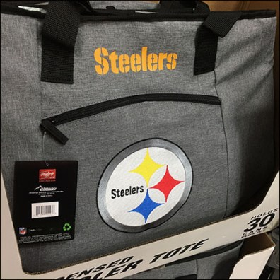 Steelers-Licensed Cooler Tote Pallet Display