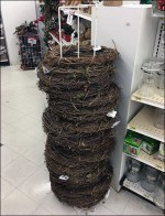 Seasonal Wreath Single-Stacker Floorstand