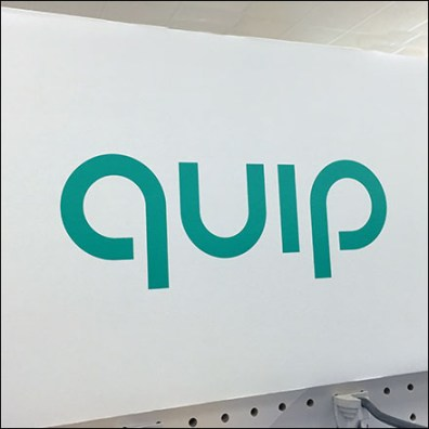Quip Toothbrush Array Shelf-Top Display