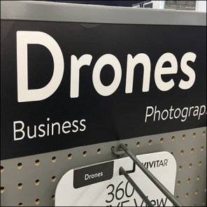 Drone Pick-Card Pegboard Display
