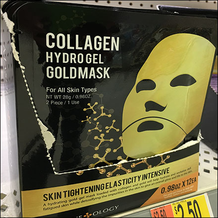 Gold Face Mask Shelf-Edge Appeal