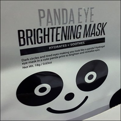 Panda-Eye Face Mask Shelf-Edge Outreach