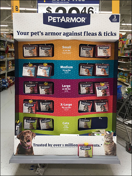 Pet-Armor Flea Treatment Endcap