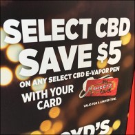 CBD Savings Loyalty Card Sign