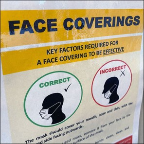 CoronaVirus Proper Face Covering Instructions