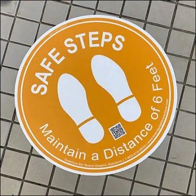 CoronaVirus Safe-Steps Floor-and-Carpet Graphics