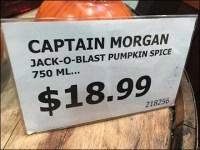 Captain Morgan Jack-O-Blast Acrylic Sign Holder