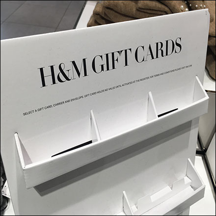 H&M Gift-Card Cardboard Display Details