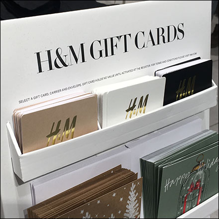 H&M Gift-Card Cardboard Display Stand