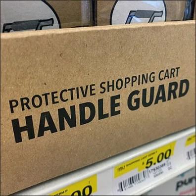 Shopping-Cart Sanitary Handle Guard