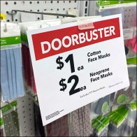 Face Mask Doorbusters Sign Arm
