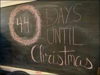 44 Days Until Christmas Chalkboard Countdown