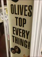 Shelf-Edge Gravity-Feed Olive Rack