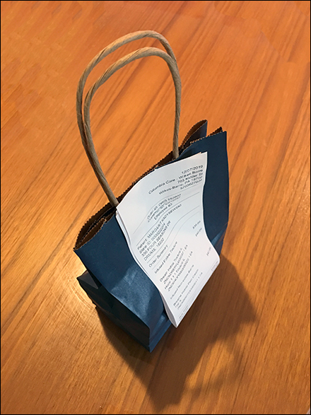 Twine-Handle Cannabis Products Shopping Bag