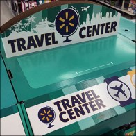 Mega-Island Travel-Center Corrugated Display