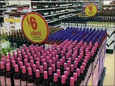 $6 Wines Merchandising Spotlight Sign