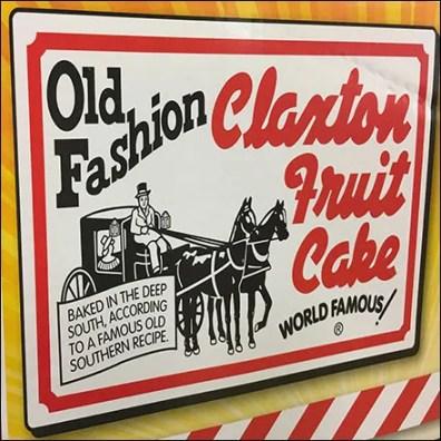 Old-Fashioned Fruit Cake Display