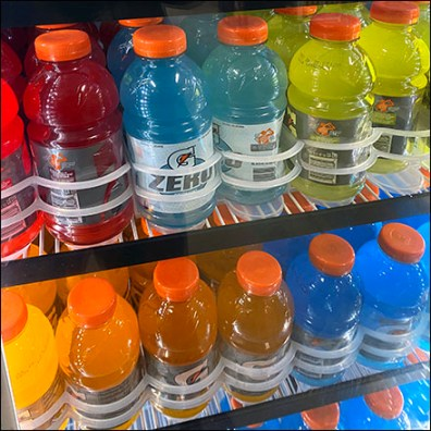 Gatorade Cooler Custom Shelf Management
