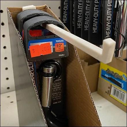 Hitch-Pin Corrugated Hook Self-Merchandiser