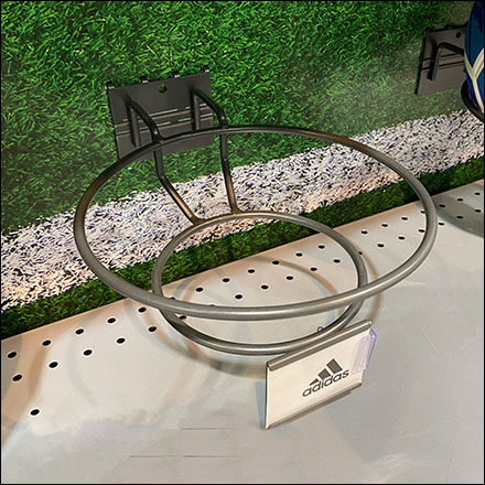 Pegboard-Mount Soccer Ball Ring Hook NakedPegboard-Mount Soccer Ball Ring Hook Naked
