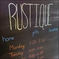 Rustique Entry-Door Chalkboard Hours