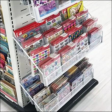 Greeting-Card Slotwall Endcap Display