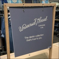 Universal-Thread Table-Top Snap-Ring Sign